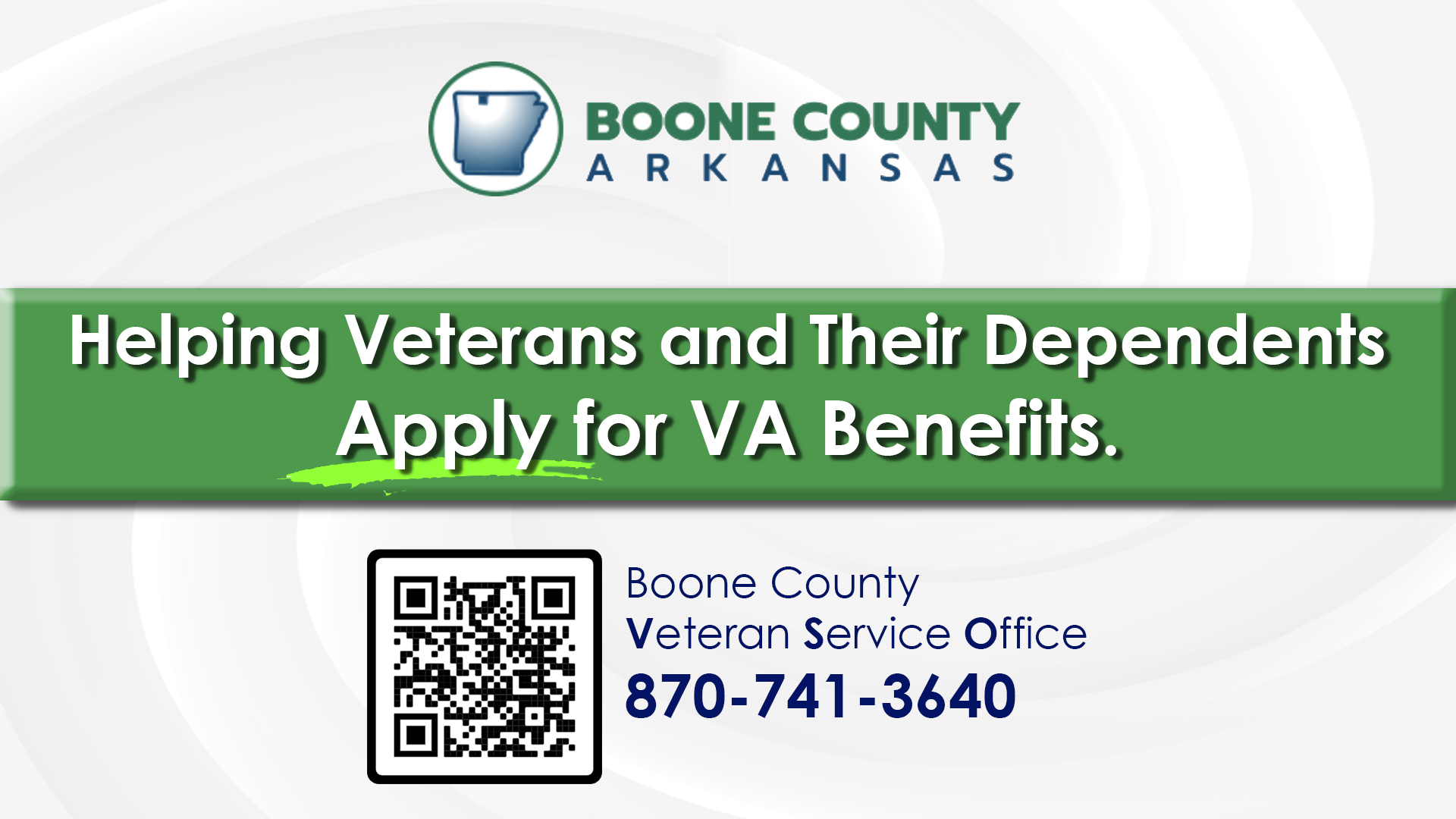 Veteran services - Boone
